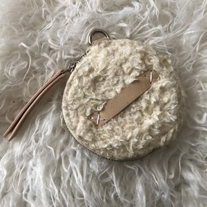 Free People FP Adorable Ivory Coin Purse Fleece